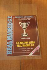 Fußball  Stadion Programm Magazin Real Madrid Austria Wien Uefa Cup 20.04.1983