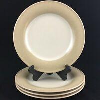 "Set of 4 Dinner Plates 11"" by Noritake Stoneware Safari Cream 8044 Indonesia"