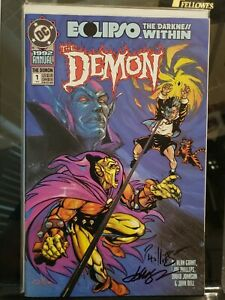 Demon Annual #1 1992 Signed Joe Phillips Dave Johnson Eclipso Darkness Within