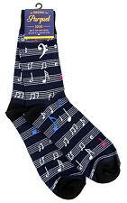 Music Score Men's Socks Novelty Musician Gift Cotton Blend Fashion Blue Sock