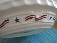 Longaberger Patriotic All American Stars & Stripes Pie Plate ~ Unused No Box