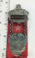 Deco 1940 Chicago  Democratic Convention  ALTERNATE Badge