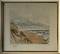 Impressionist M. Heim Sylt Küste Strand Nordsee 28 x 31 cm Norddeutschland