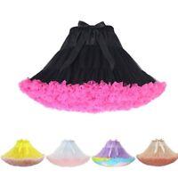 Women's Tutu Skirt Adult Tulle Ballet Dance Costume Fluffy Short Petticoat