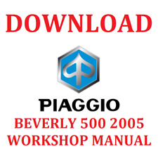 PIAGGIO BEVERLY 500 2005 WORKSHOP MANUAL DOWNLOAD