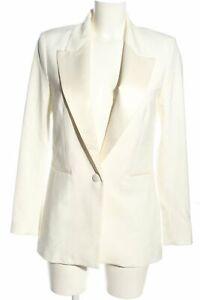 H&M Smoking-Blazer weiß Business-Look Damen Gr. DE 36 weiß Tuxedo Blazer