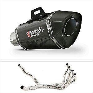 Lextek XP8C Carbon Exhaust Cans & Twin Side Downpipes Kawasaki Z1000 2010-2019