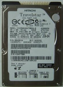 """IC25N060ATMR04-0 IBM 60GB 2.5"""" 9.5MM IDE 44PIN HDD Tested Good Our Drives Work"""