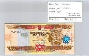 BILLET ILES SALOMON - 100 DOLLARS - ND