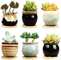 2.5 Inch Ceramic Succulent Planter Pot with Drainage,Planting Pot Flower Pots