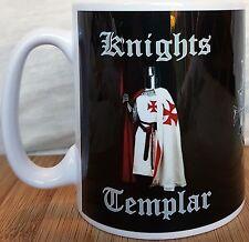 I Cavalieri Templari Tazza Tazza in ceramica, con due cavalieri templari e SCUDO DEI TEMPLARI
