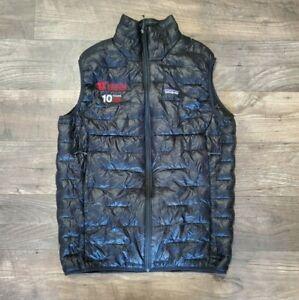 Mens Patagonia Black Puffer Quilted Down Vest Utah Logos Size Medium