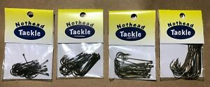 25-PK Eagle Claw Bronze Aberdeen Fish Hooks 4 Sizes to chose from ,6, 4, 1 & 2