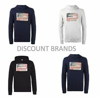 Mens Ralph Lauren Denim and Supply Patch Work Pull Over Hoodie