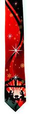 Nativity Snow Men's Christmas Neck Tie Religious Christmas Jesus Red Necktie