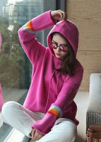 New 2019 Womens Design Inspired Luxury Cashmere Hoodie Knitwear Jumper Pullover