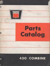 DEC. 1964 OLIVER FARM EQUIPEMENT 430 COMBINE PARTS MANUAL 448 002 (219)