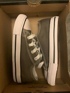 Converse 7J794 Unisex-Baby Chuck Taylor Ox Low Charcoal Sneaker Size 6 Infant