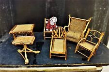 Antique dolls house furniture Colonial style