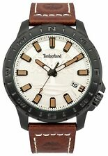 Timberland Wayland Men's Brown Leather Strap Watch.