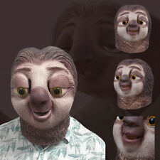 Zootopia Sloth Latex Masks Costume Theater Prop Fancy Dress Party Mask Funny x1