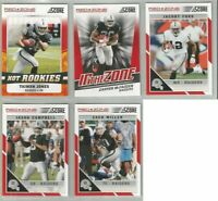 Oakland Raiders 5 card 2011 Score RED ZONE insert & parallel lot-all different