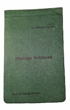 AUSSIE ARMY FIELD MESSAGE NOTEBOOK - DIGGER WRITING PAD