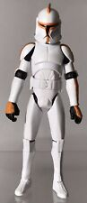 "Star Wars Clone Wars Orange Clone Trooper Army Republic Battle Pack 3.75"" Figure"