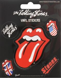 Rolling Stones pack of 5 Vinyl Stickers (py)