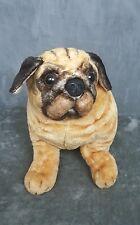 Melissa & Doug Jumbo Plush Pug Dog Puppy Lifelike Cute  EUC Toy Stuffed Animal