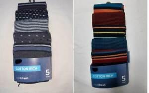 Men's Marks & Spencer M&S 5 Pack Spots & Stripe Shoe Size  6-8.5 9-12