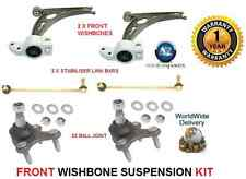 FOR VW CADDY PICK UP 04> 2 WISHBONE ARMS 2 LINK BARS 2 BALLJOINT SUSPENSION KIT