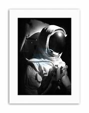 L'ASTRONAUTA Spazio Uomo Nero Bianco Foto Poster Foto Ritratto tela art prints
