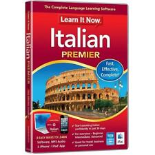 Learn It Now Italian Premier Language Learning Software For PC/Mac DVD