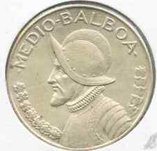 Panama.  1933 1/2 Balboa.  KM #12.1.  About Uncirculated.  (E-316)