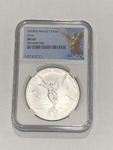 2020 Mo Mexico 1 oz Silver Libertad Onza Coin NGC MS69 Mexico Label