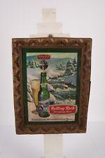 Vintage 1974 Rolling Rock Plastic Bar Beer Sign Wall Display Latrobe Pa Winter