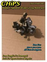 Buddy L: CHIPS Speedster Wind Up Motorcycle (Made in Japan, 1981) Damaged Used