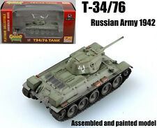 WW2 Russian Army T-34/76 1942 tank 1/72 finished no diecast Easy model