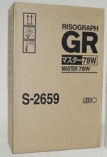 Riso S-2659 78W A3 Master Rollen Risograph GR3770 Digital Duplicator GR 3770 OVP