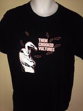 THEM CROOKED VULTURES 1st TOUR 2009 LARGE T SHIRT DAVE GROHL  ROCK