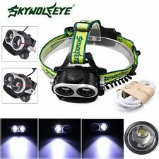 20000lm CREE XML T6 5 Modes 18650 USB Rechargeable LED Headlamp Headlight Lamp