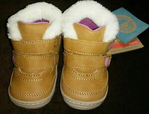 NWT Baby Girl Surprize by Stride Rite Esther Brown Boots Size Stage 2 Size 3