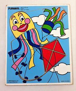 Playskool Wooden Puzzle 1988 Kites 186-17 Vintage Wood Puzzle 5 Pieces 209