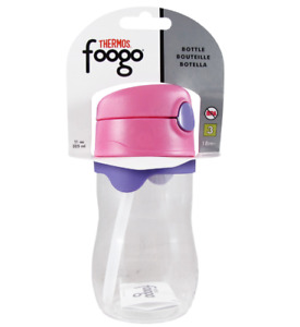 NIP THERMOS FOOGO 11-Ounce Straw Bottle, Pink/Purple