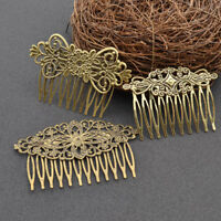 Women Vintage Bronze Hair Comb Flower Sunflower Metal Headdres Retro
