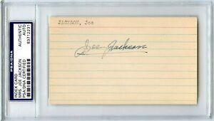 SHOELESS JOE JACKSON Signed Index Card By Mrs Joe Jackson 1918 Black Sox PSA COA