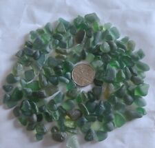 150 very small pieces Green English Sea glass Mosaic North East Coast Seaham