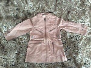 £250 Stella McCartney Kids Designer Dust Pink Jacket Dress 2 years