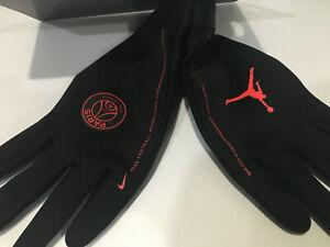 Nike Men HyperWarm Paris Saint-Germain Jordan Academy Gloves/BLK/Red CQ0921 010